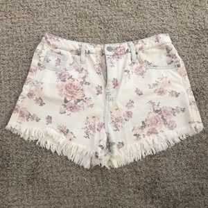 Mossimo Supply Floral Shorts, Size 10